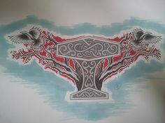 Mjolnir and the Ravens by BloodlessSnow.deviantart.com on @deviantART