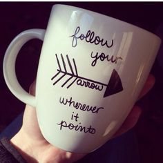 Pi Beta Phi arrow mug craft