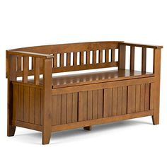 """You want to make a good first impression…we get that. We designed the Acadian Storage Bench with exactly this in mind. This stylish bench allows your inner designer to shine through while creating added storage and seating for your entryway or mudroom. """"Form follows function""""... more details available at https://furniture.bestselleroutlets.com/entryway-furniture/storage-benches/product-review-for-simpli-home-acadian-entryway-bench-light-avalon-brown/"""