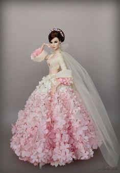 Agnes Love, Life and Lace Barbie Bridal, Barbie Wedding Dress, Barbie Gowns, Barbie Dress, Barbie Clothes, Fashion Royalty Dolls, Fashion Dolls, Pink Doll, Beautiful Barbie Dolls