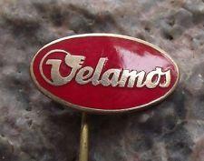Antique Velamos Bicycle & Motorbike Works Oval Logo Cycle Bike Pin Badge