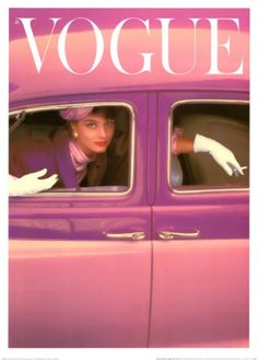 Norman Parkinson Vogue Cover, Autumn Fuchsia painting is shipped worldwide,including stretched canvas and framed art.This Norman Parkinson Vogue Cover, Autumn Fuchsia painting is available at custom size. Vogue Vintage, Capas Vintage Da Vogue, Vintage Vogue Covers, Vintage Fashion, Vintage Pink, Vintage Clothing, Vintage Style, Golf Clothing, 1950s Fashion