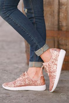All That Sparkles Sneakers - Rose Gold (7.5)