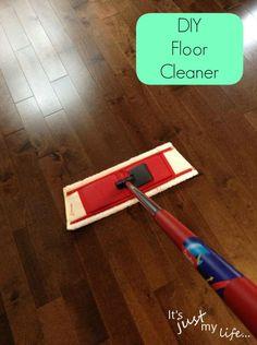 DIY Hardwood Floor Cleaner makes my floors shine.