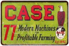 Case Modern Farming Machines Vintage Look Reproduction 8x12 Metal Sign 8121234