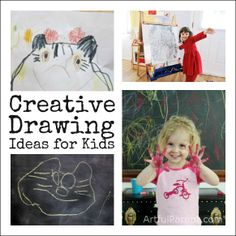Creative Drawing Ideas and Activities for Kids (at The Artful Parent)    #kidsart #creativity