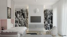 Pokoje dziecięce - room for the kids - New York and white modern interior design architect Marcin Śliwiński Poland  https://www.facebook.com/architectmarcinsliwinski?fref=ts