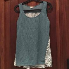 Teal polkadot blouse w tribal print back - Mercari: Anyone can buy & sell