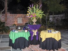 Mardi Gras - purple, green and gold colors.