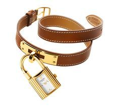 Hermes Kelly Watch, gold-plated case