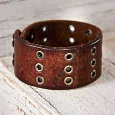 Gift For Him Leather Cuff Valentines Day by rainwheel on Etsy, $37.50 #handmade #vintage #etsy