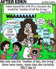 Image compliments of AiG illustrator Dan Lietha. Christian Comics, Christian Cartoons, Christian Jokes, Christian Art, Scripture Quotes, Bible Art, Bible Verses, Bible Science, Science Guy