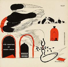 The Ideation of Kenny Drew -Kenny Drew - Norgran 29, illustration by David Stone Martin