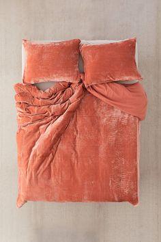 Shop Skye Velvet Duvet Cover at Urban Outfitters today. Boho Bedding, Luxury Bedding, Bedding Sets, Croscill Bedding, Gray Bedding, Bedding Decor, Bedroom Inspo, Bedroom Decor, Bedroom Stuff