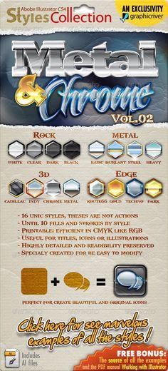 Illustrator Styles Collection: Metal & Chrome #02