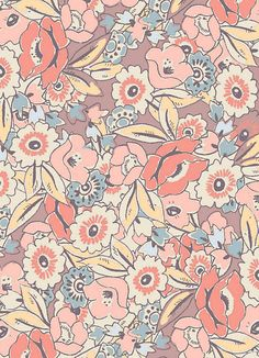 spring floral pattern x Pretty Patterns, Color Patterns, Floral Patterns, Surface Pattern Design, Pattern Art, Batik Pattern, Textile Patterns, Textile Prints, Motif Floral