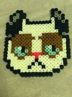 (4) Grumpy Cat Perler Bead by TriforceInk | CATS | Pinterest