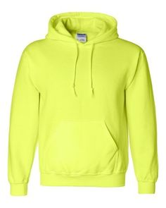 9.3 oz., 50/50 cotton/polyesterSafety Green and Safety Orange are both compliant with ANSI high visibility standardsDouble-lined hood with matching drawstring1x1 athletic rib knit cuffs and waistband with LycraDouble-needle stitching throughout
