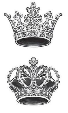 Resultado de imagem para tattoo couronne reine