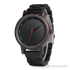 Cheap relogio relogios, Buy Quality relogio men directly from China relogio black Suppliers: BOBO BIRD New Black Wooden Watches Men Wood Strap Quartz Analog Luxury Gifts Wristwatch Male Relogio Drop Shipping Wooden Watches For Men, Luxury Watches For Men, Fossil, Style Masculin, Watch Engraving, Top Luxury Brands, Black Quartz, Bracelet Cuir, Cool Watches