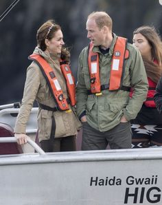 Kate Middleton Photos Photos - Prince William, Duke of Cambridge and Catherine, Duchess of Cambridge take part on a fishing boat trip on September 30, 2016 in Haida Gwaii, Canada. - European Best Pictures of the Day - September 30, 2016