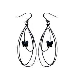 Desideri design butterfly earrings black