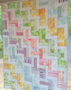 I love quilts and this one is so simple and fun