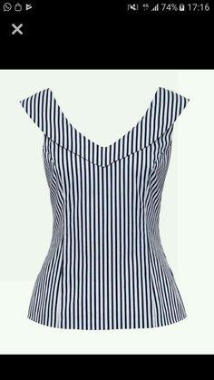 Jolene stripe top fashion outfits blouse, fashion e tops Blouse Styles, Blouse Designs, Blouse Outfit, Mode Inspiration, Dress Patterns, African Fashion, Designer Dresses, Cool Outfits, Fashion Dresses