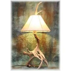 Deer Antler Table Lamp | Hidalgo Large Whitetail Deer Antler Table Lamp