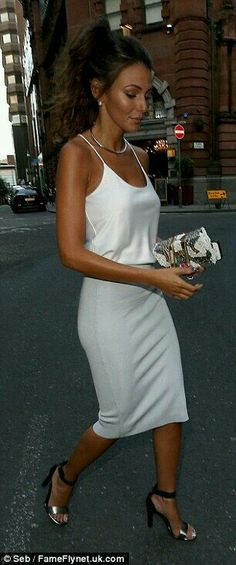 Slip dress...Michelle Keegan