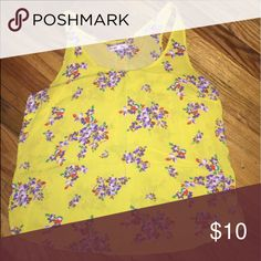 Yellow flower shirt Yellow flower shirt Tops Blouses