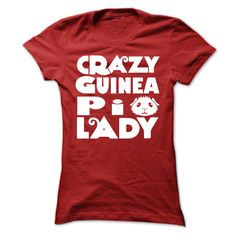 Crazy Guinea Pig Lady T-Shirts, Hoodies. SHOPPING NOW ==► https://www.sunfrog.com/LifeStyle/Crazy-Guinea-Pig-Lady.html?id=41382