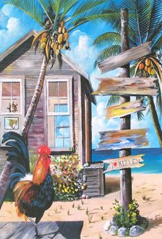 Key West Rooster by Ray Rolston