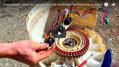 How to make a magnetic generator out of an old washing machine #survival