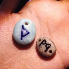 Making runes for necklaces and bracelets...