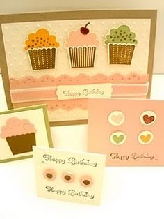 Cards, Stampin' Up! Cards, Birthday Cards, Cupcake Cards