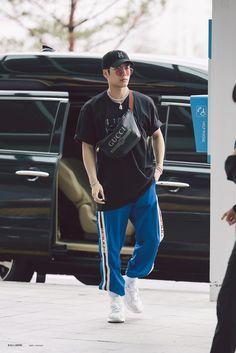 Jackson Wang Got7 Jackson, Jackson Wang, Jackson Airport, Yugyeom, Youngjae, Jaebum Got7, Fashion Idol, Kpop Fashion, Korean Fashion