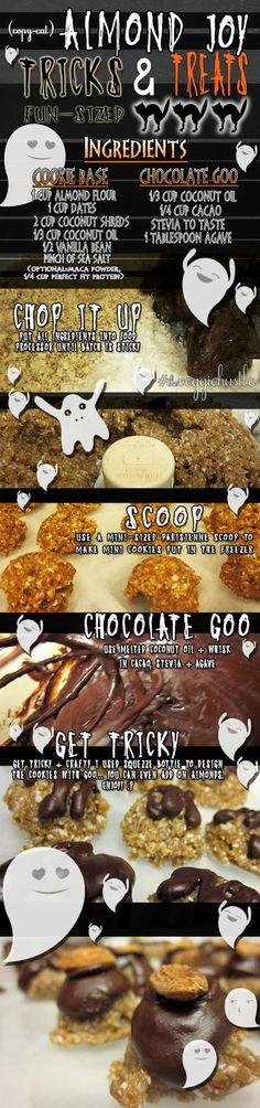 Copy-Cat Raw Vegan Almond Joy Halloween Treats