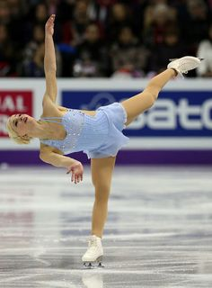 Viktoria Helgesson 2013 ISU Worlds -Blue Figure Skating / Ice Skating dress inspiration for Sk8 Gr8 Designs.