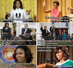 facts about michelle obama #MichelleObama
