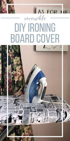 Every sewing room needs a good ironing board, I use mine several times each week. Here's how to make a reversible ironing board cover to fit your decor! Sewing Blogs, Easy Sewing Projects, Sewing Hacks, Sewing Tutorials, Sewing Patterns, Diy Ironing Board Covers, Sewing Room Decor, Old Clothes, Love Sewing