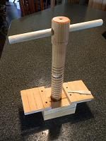 Making large diameter wooden vise screws and tapping threads-imageuploadedbytapatalk1386786130.013203.jpg