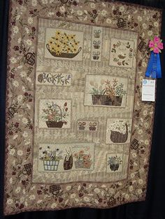 Japanese taupe baskets quilt