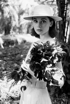 Audrey Hepburn on the set of The Nun's Story (1959)