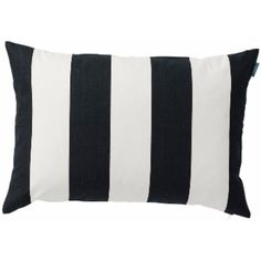 Spira Bodil Black Cushion (39 CAD) ❤ liked on Polyvore featuring home, home decor, throw pillows, spira, black toss pillows, striped throw pillows, stripe throw pillows and black and white accent pillows