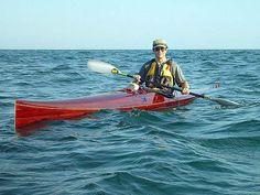 Mystery Bootlegger mahogany-strip racing sea kayak