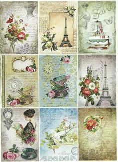 Ricepaper/Decoupage paper,Scrapbooking Sheets /Craft Paper Parisian Life in Crafts, Cardmaking & Scrapbooking, Decoupage | eBay