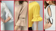 Latest Designer Sleeves Designs For Summer - Best Sleeves Designs 2018 Neckline Designs, Dress Neck Designs, Sleeve Designs, Kurta Designs, Blouse Designs, Blouse Styles, Kurti Sleeves Design, Sleeves Designs For Dresses, Suit Fashion