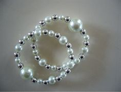 "Queasy Beads Motion Sickness & Nausea Relief Bracelets ~ A natural nausea remedy in ""White Dazzle"" by QueasyBeads, $19.95"