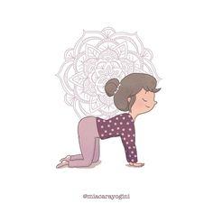 Bitilasana, cow pose 🐮 #bitilasana #lamucca #cowpose #motivazione #yoga #meditazione #yogi #namaste #mindfulness #yogagirl #motivation #asana #yogini #yogapose #diarioyogaillustrato #yogaart #yogaillustration #miacarayogini #arteyoga #diarioyoga #arteyoga #inspiraespira #yogadoodle #yogaillustrators #mandala #om Cow Pose, Asana, Doodle, Mandala, Poses, Illustration, Artwork, Instagram, Scribble